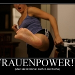 Frauenpower in der K�che
