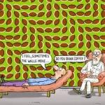 Kaffeebohnen-Illusion
