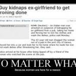 Kidnapping mit Grund