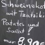Schweinekot mit Tzatziki