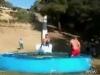 Selbstgebaute Wasserrutsche