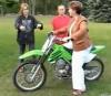 Wenn M�tter Motorrad fahren...