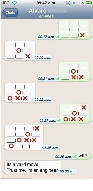whatsapp tic tac toe. Black Bedroom Furniture Sets. Home Design Ideas