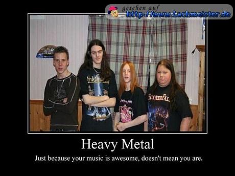 Junge Heavy Metal Fans