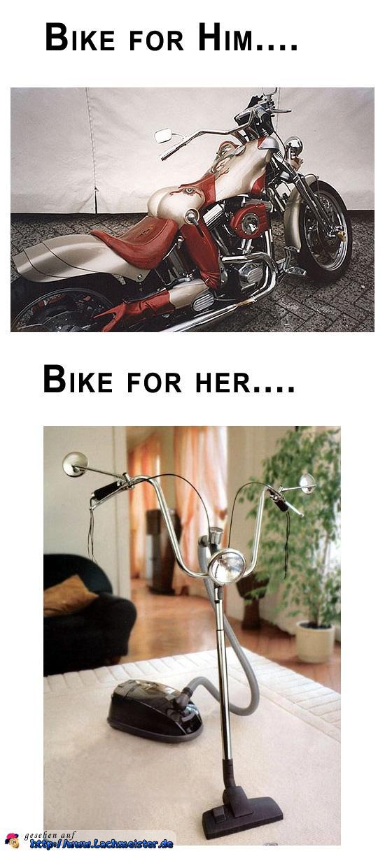 Motorrad für ihn und für sie
