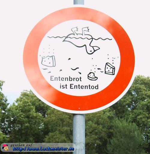 Entenbrot ist Ententod